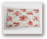 The NYC Trinket Tray in Red/Cream